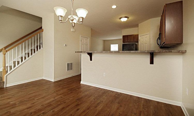 Open floor plan space at Emerald Pointe Townhomes