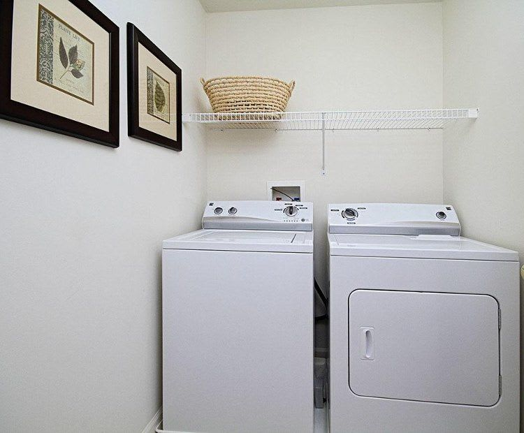Laundry room at Lion's Gate