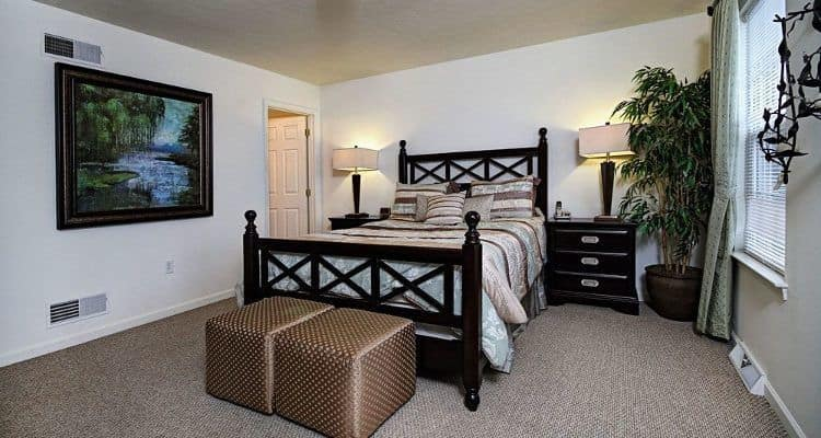 Cozy bedroom at Lion's Gate Townhomes