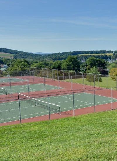 Tennis courts at Lion's Gate Townhomes in Red Lion, PA