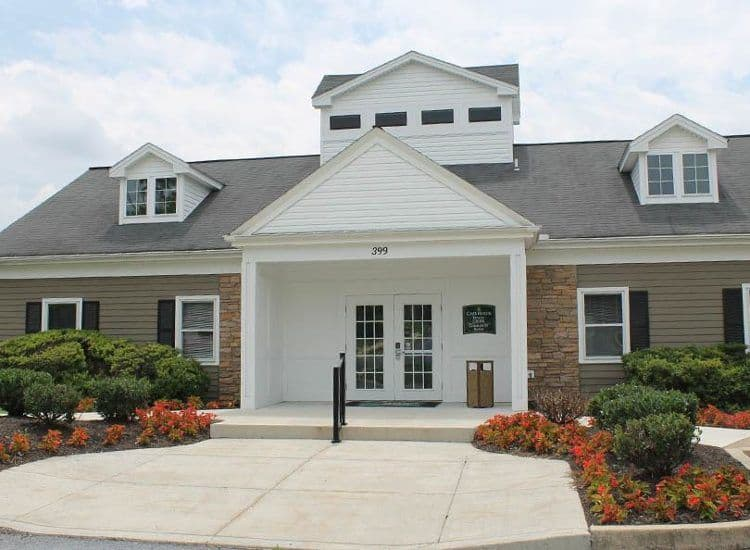 Exterior of townhome at The Encore at Laurel Ridge in Harrisburg, PA