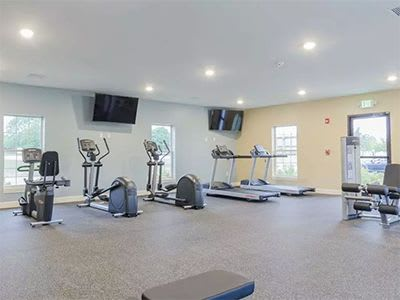 On-site fitness center at The Lakes at 8201 in Merrillville