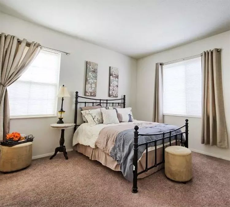 Spacious bedroom at Perry's Crossing Apartments