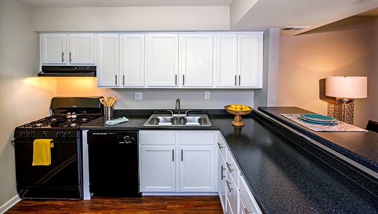Modern kitchen at Nineteen North Apartments