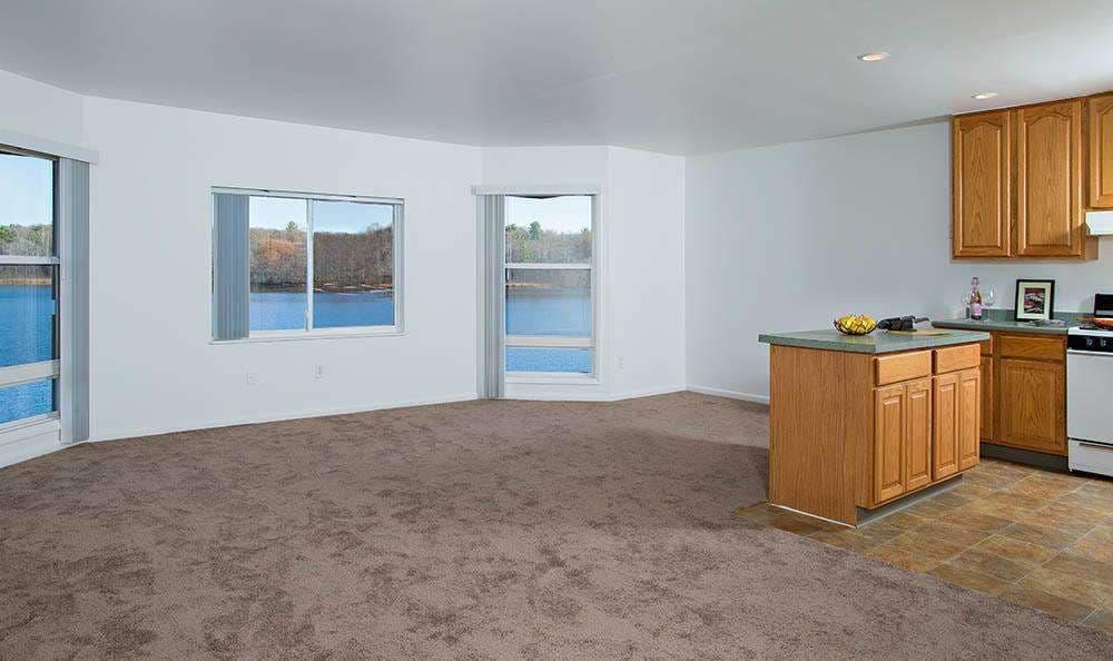 Open floor plan space at Lakeshore Villas in Port Ewen