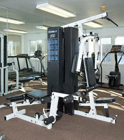Fitness center at Lakeshore Villas in Port Ewen, NY