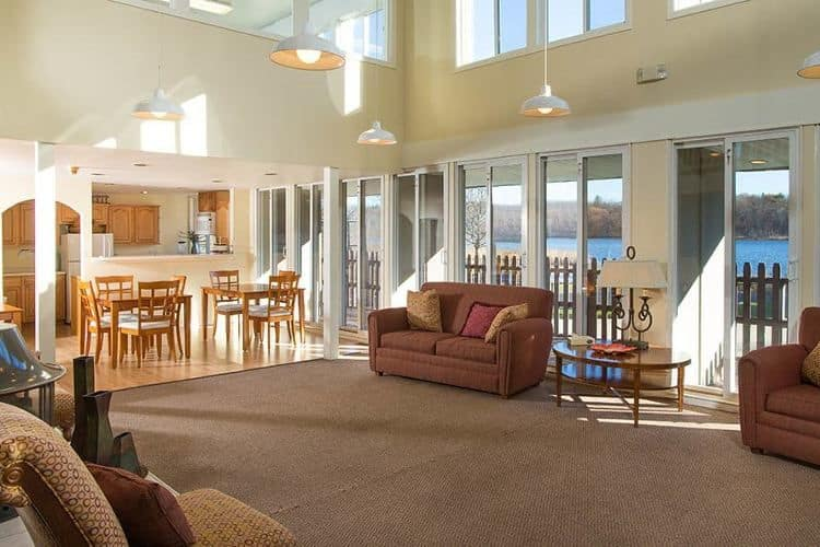 Clubhouse interior at Lakeshore Villas in Port Ewen, NY