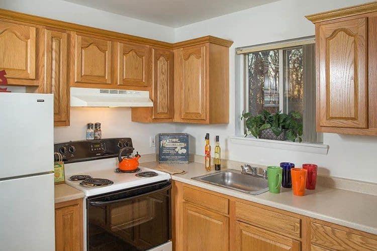 Modern kitchen at Sunset Garden Apartments in Kingston, NY