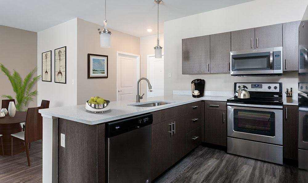 Full-equipped kitchen at The Landings at Meadowood in Baldwinsville