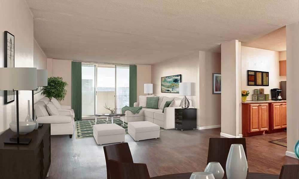Ample living space at Towers on the Hudson