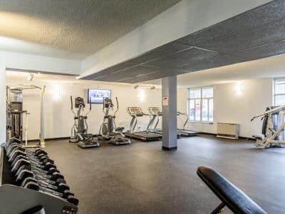 Fitness center at Towers on the Hudson in Troy, NY