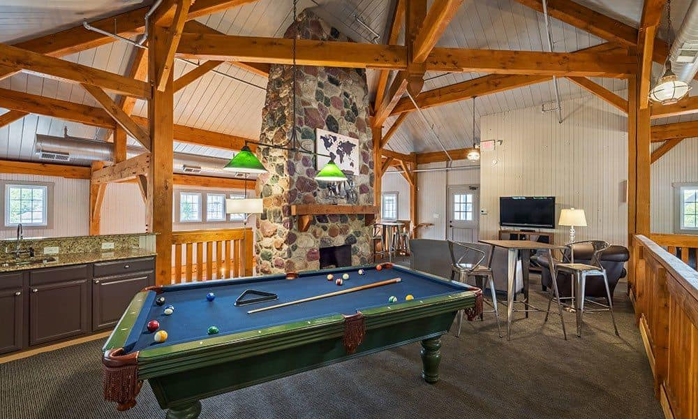 Pool room at The Docks in Pittsburgh, PA