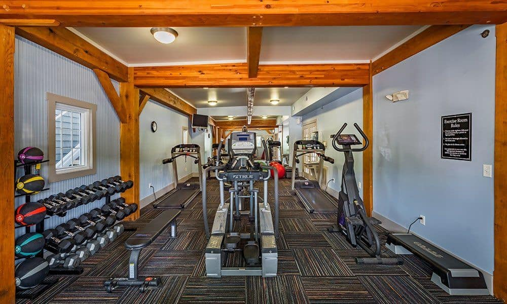 Fitness center at The Docks in Pittsburgh, PA