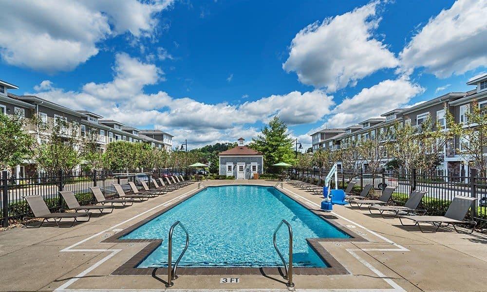The Docks swimming pool in Pittsburgh, PA