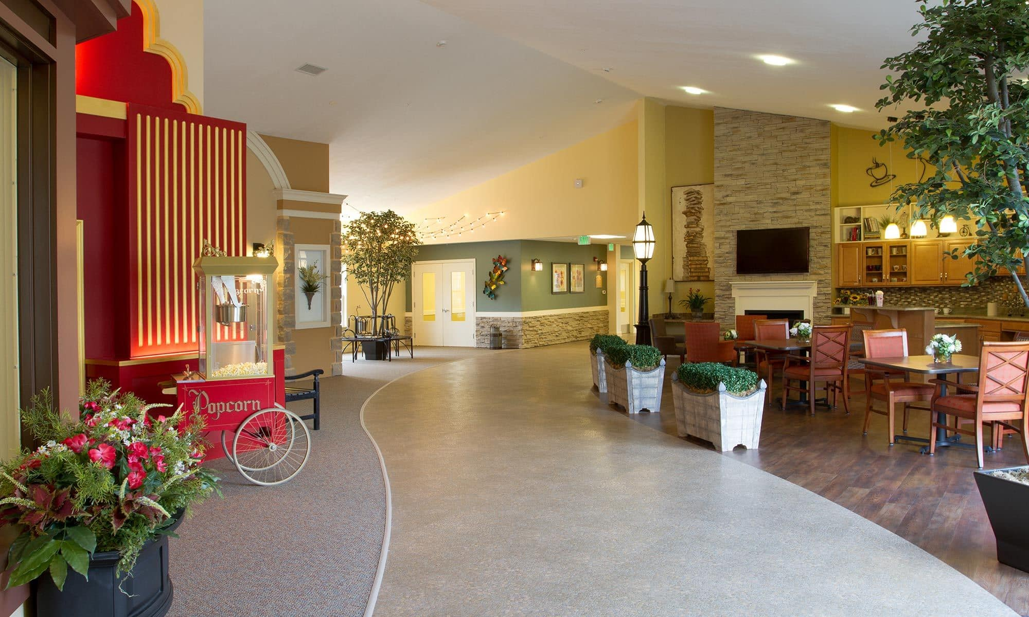 Common area leading to the theater at Randall Residence of Tipp City in Tipp City, Ohio
