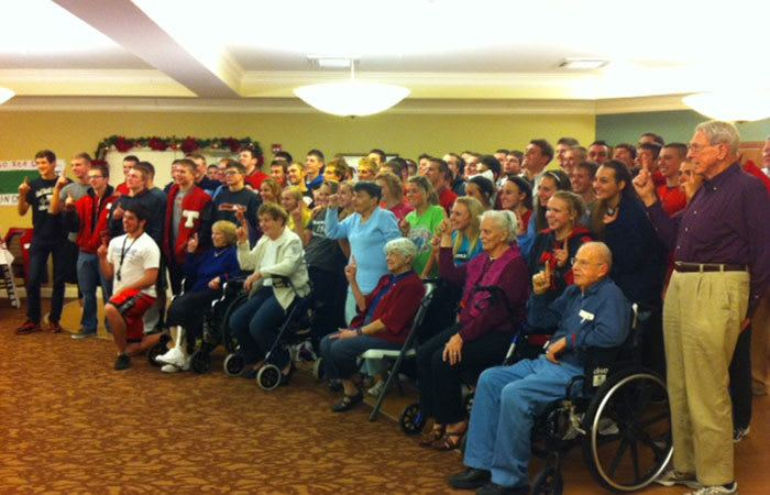 Group of residents attending an event at Randall Residence of Tipp City in Tipp City, Ohio
