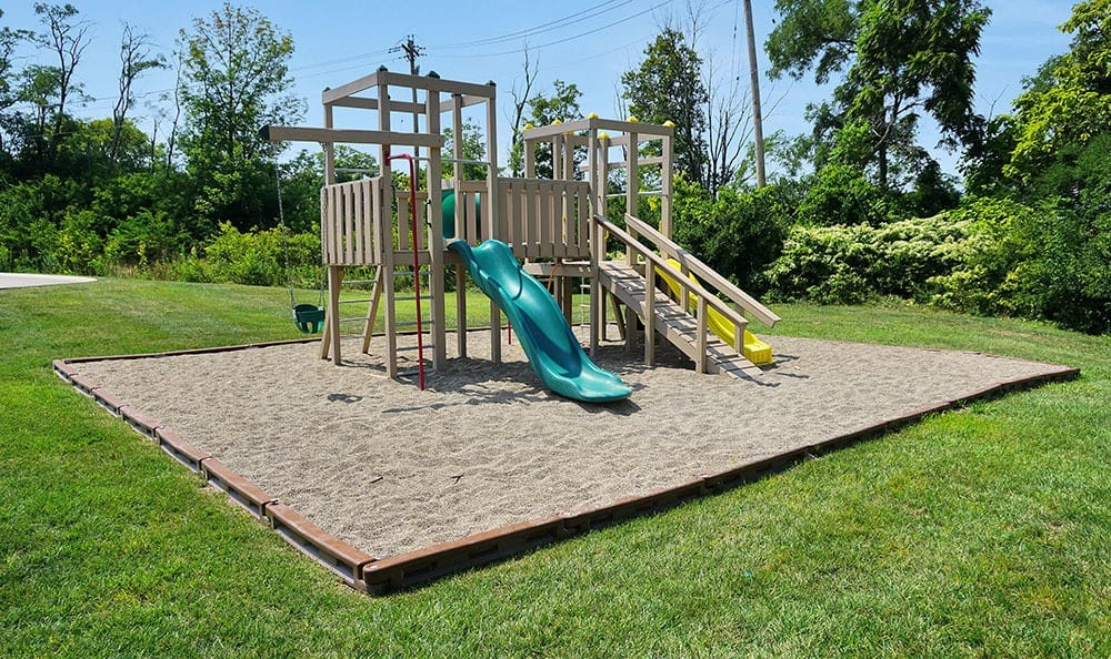 A playground for the kids who live at Four Seasons Apartments in Erlanger, Kentucky