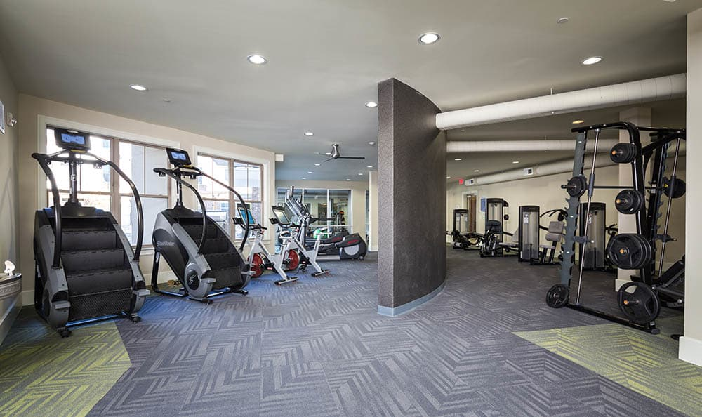 Beautiful fitness center at apartments in Nashville, Tennessee