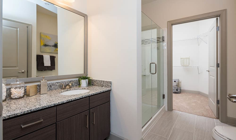 Beautiful  bathroom at apartments in Nashville, Tennessee