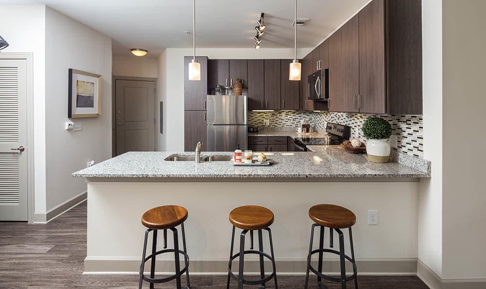 Modern kitchen at One Metrocenter in Nashville, Tennessee