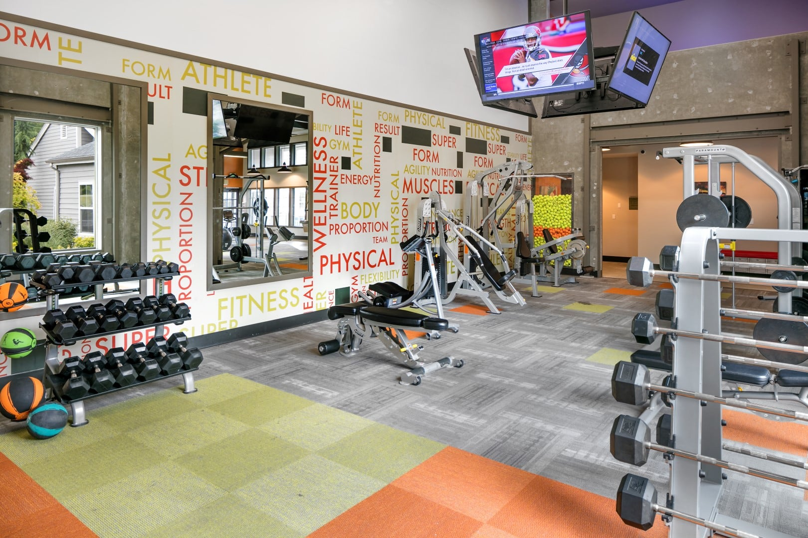 Fitness gym center at The Carriages at Fairwood Downs in Renton, WA