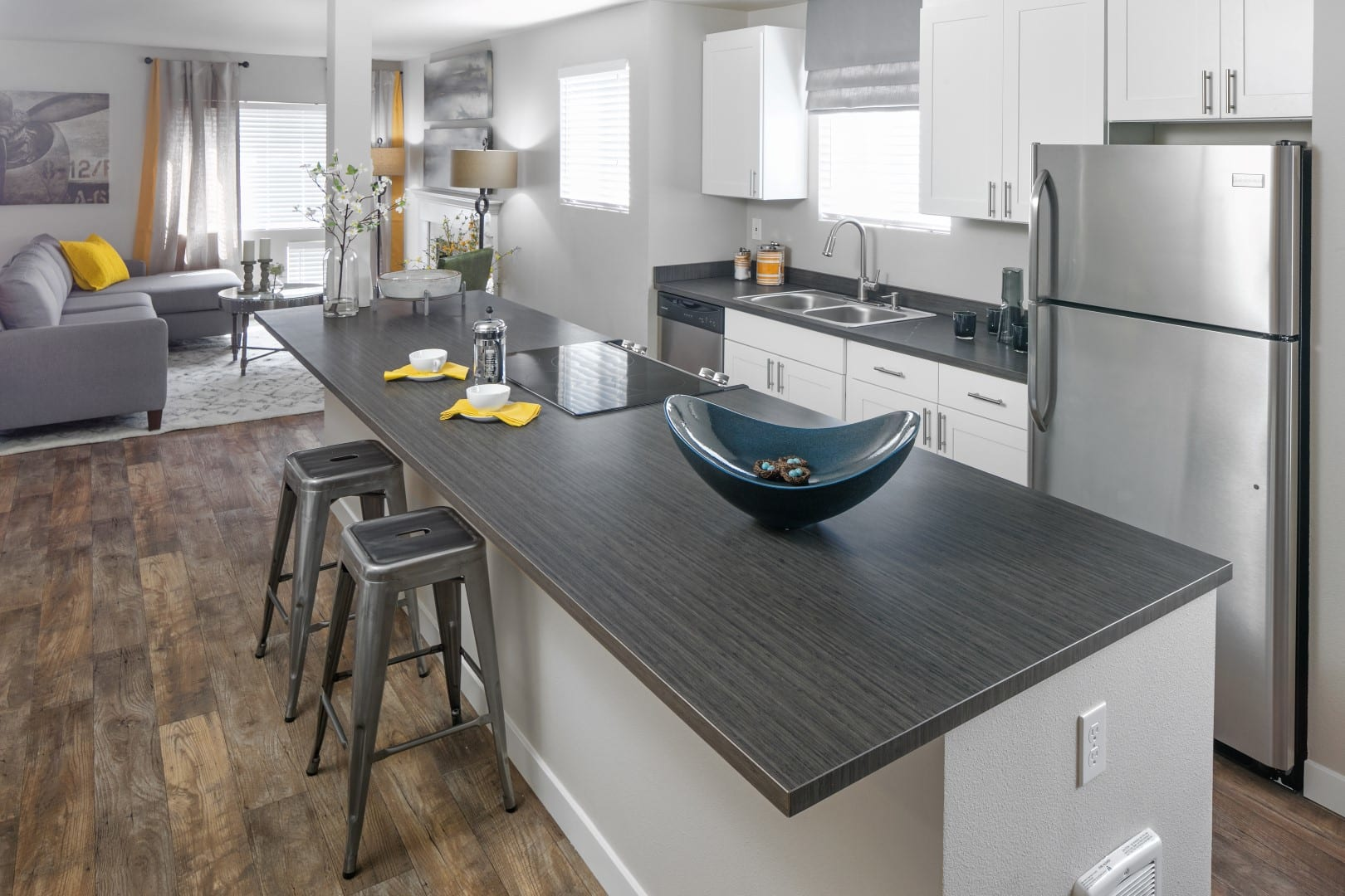Townhome rental kitchen for The Carriages in Renton, WA