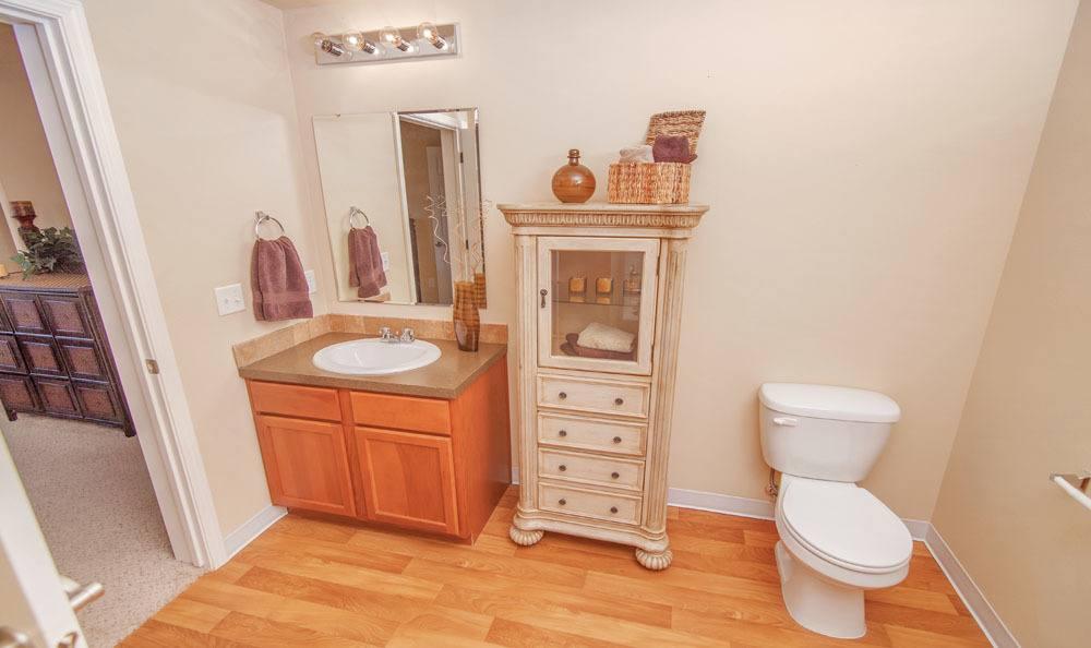 Spacious bathroom at Selway Apartments in Meridian Idaho