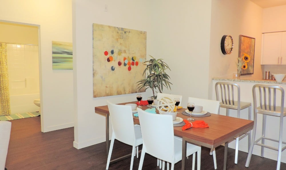 Spacious Dining Room At Ecco Apartments In Eugene Oregon