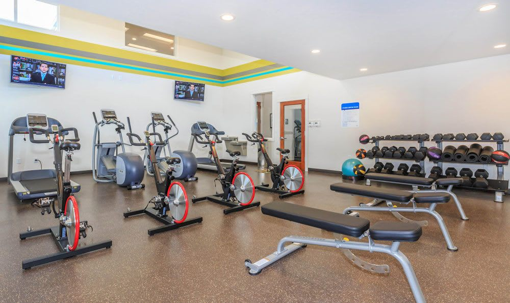 Fitness Center at Ecco Apartments in Eugene, Oregon