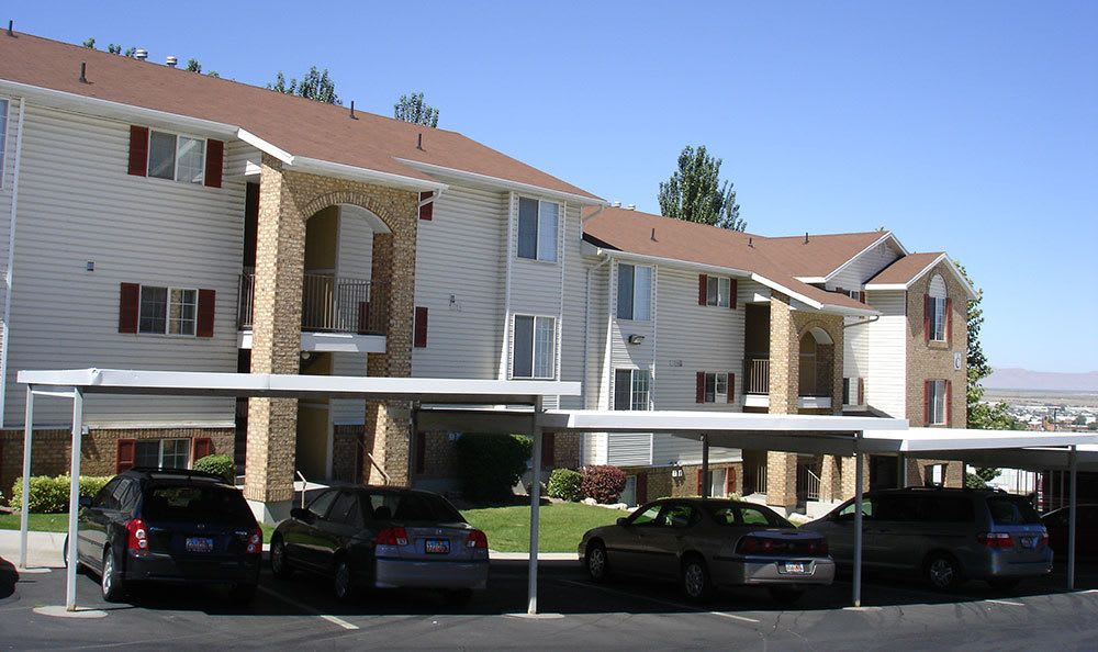 Cherry Lane Apartment Homes offers covered parking at Bountiful apartments