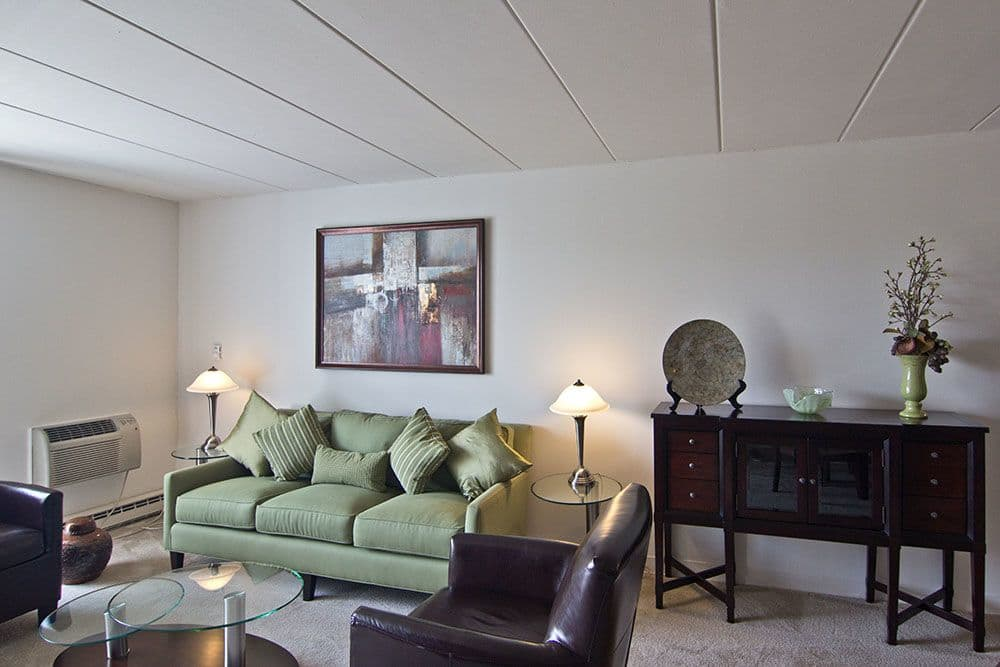 Park Towers Apartments offers a beautiful living room in Richton Park, Illinois