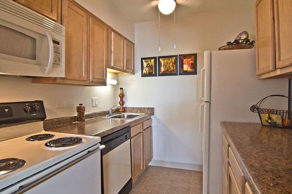 Beautiful kitchen at apartments in Richton Park, Illinois
