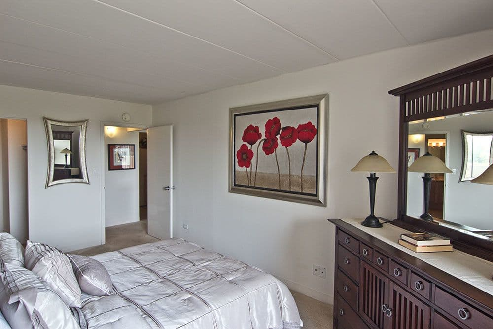 Beautiful bedroom at Park Towers Apartments in Richton Park, Illinois
