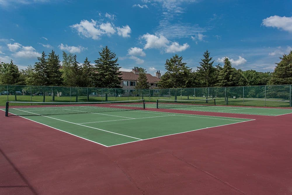 Tennis court at Steeplechase Apartments in Camillus, New York