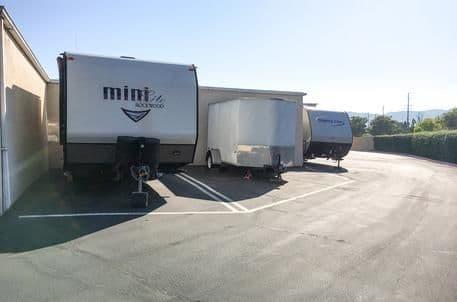 Self storage with clean rv storage areas at StorQuest Self Storage