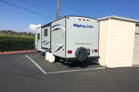 Clean rv storage areas at StorQuest Self Storage in Temecula, California