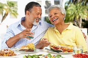 Laughing senior couple in Draper
