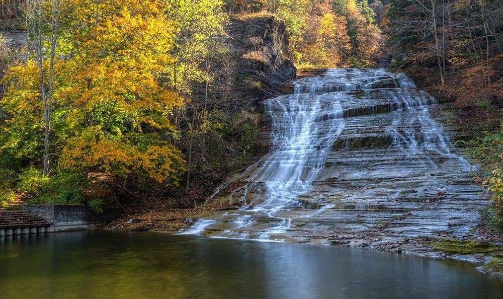 Gorgeous waterfalls and recreation spots near Fairview Apartments in Ithaca