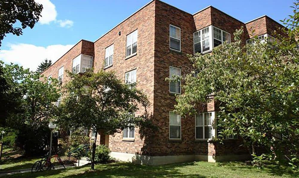 Exterior view of one of our tenant buildings at Fairview Apartments in Ithaca