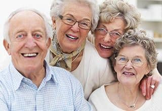 Residents laugh at Tranquillity at Fredericktowne in Frederick