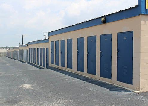 A view of the storage units at Maximum Mini Storage Perrin Beitel