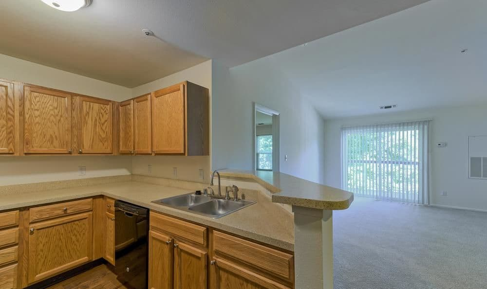 Spacious kitchen at Columbia Commons in Columbia, Maryland