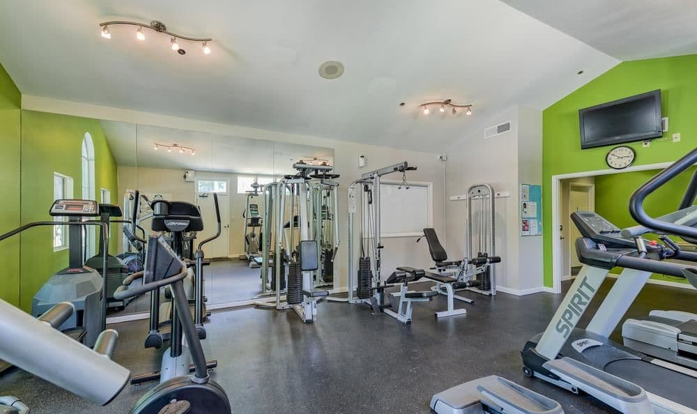 Fitness center at Columbia Commons in Columbia, Maryland