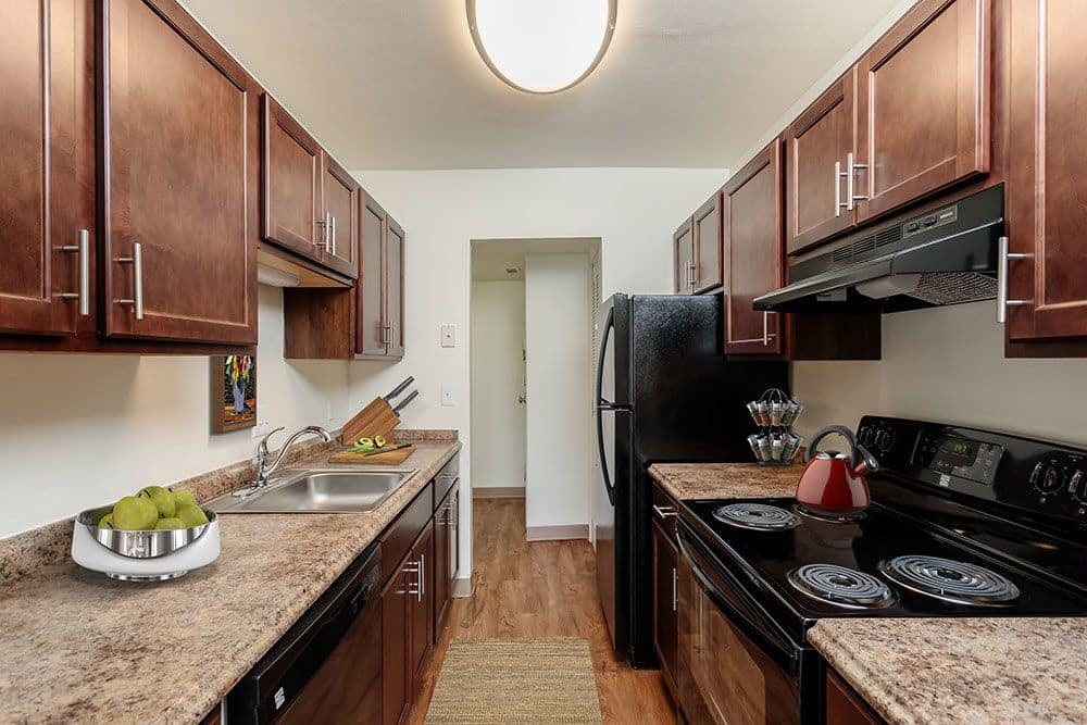 Beautiful kitchen at The Meadows Apartments in Syracuse, New York