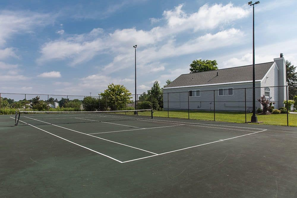 Tennis court at apartments in Syracuse, New York