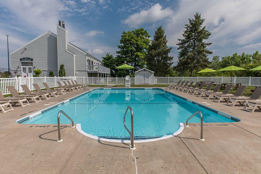 The Meadows Apartments offers a swimming pool in Syracuse, New York