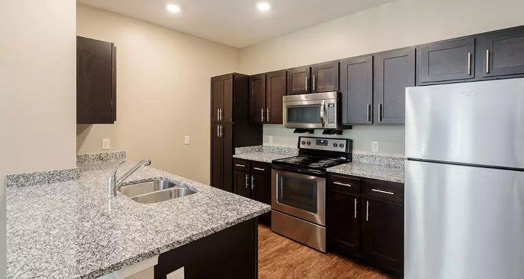 Modern kitchen at Canal Crossing