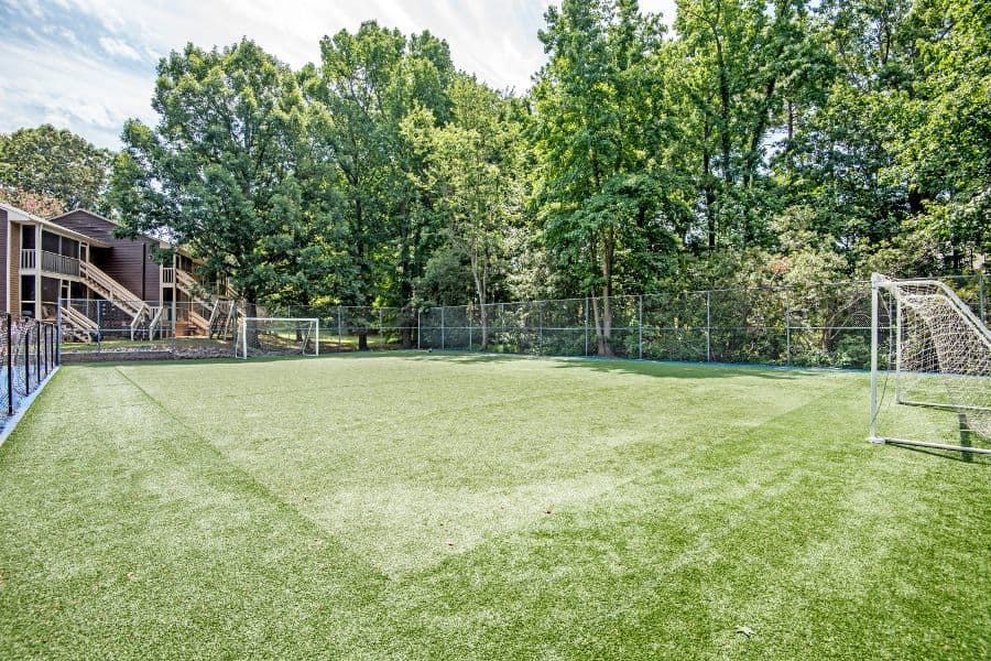 Soccer court at Six Forks Station in Raleigh, NC