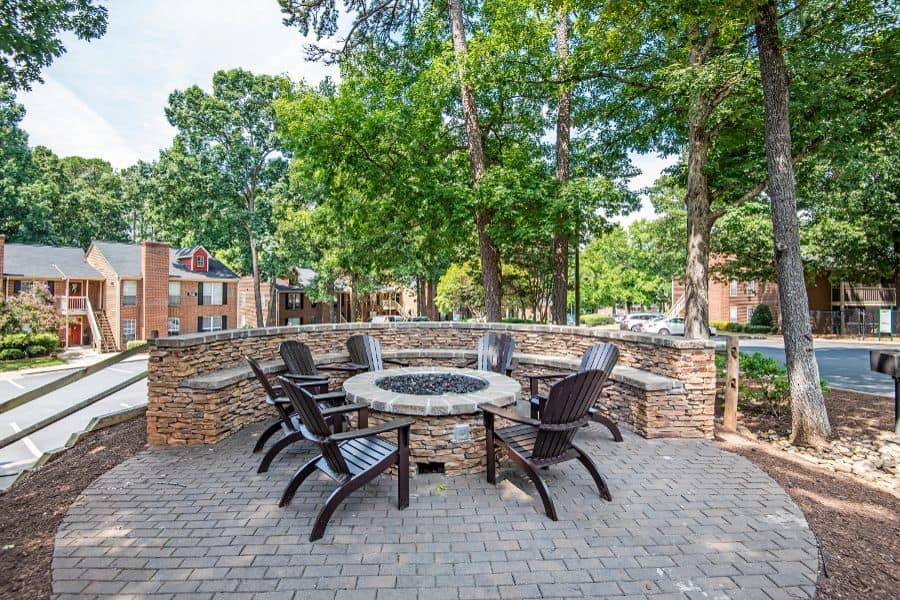 A bbq area that is great for entertaining at Six Forks Station in Raleigh, NC