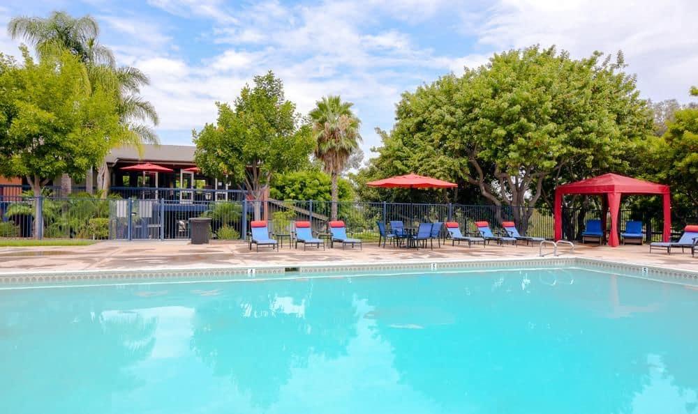 Beautiful swimming pool at Presidio at Rancho Del Oro in Oceanside, California